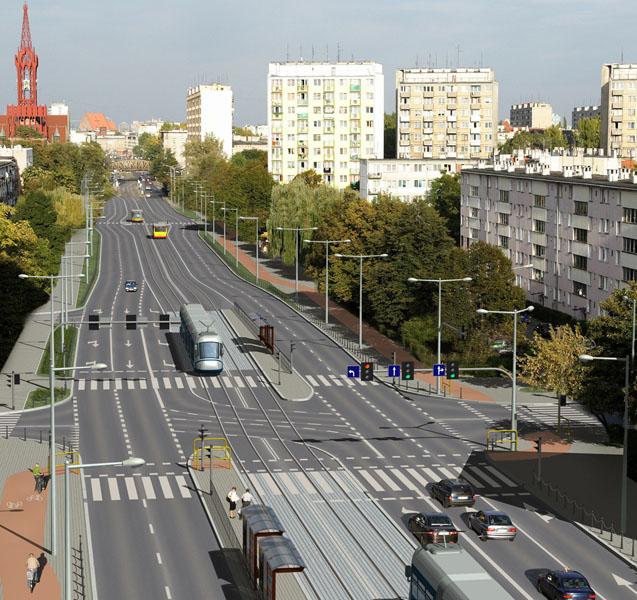 Przebudowa torowiska tramwajowego w ul. Grabiszyńskiej