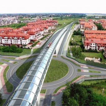 Budowa drogi wojewódzkiej od węzła A4 Bielany Wrocławskie  (ul. Karkonoska) do drogi wojewódzkiej nr 395 (rondo Żerniki Wrocławskie) i do granicy Wrocławia